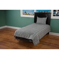 Rizzy Home Grey/Brown 3-piece Comforter Set
