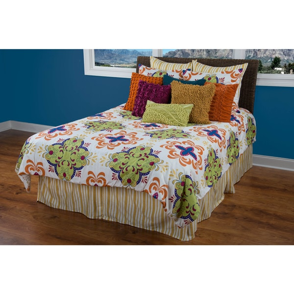 Rizzy Home Clarice Lime/ Yellow 3-piece Comforter Set
