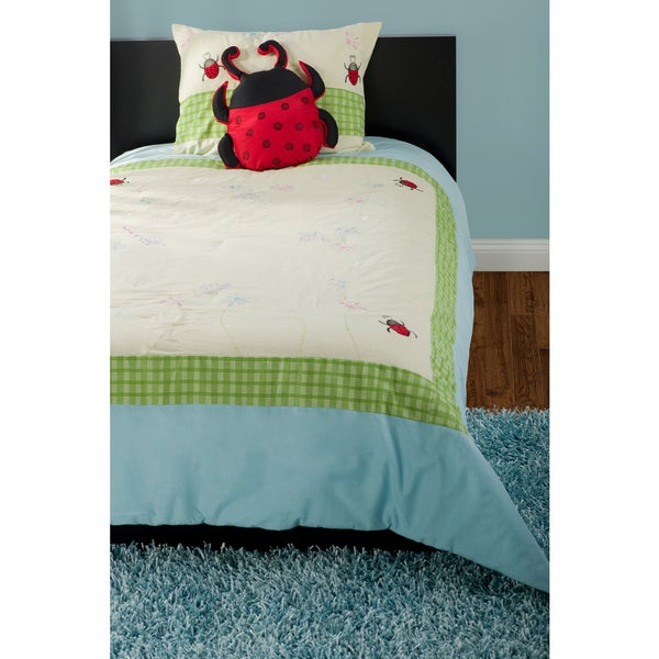 Rizzy Home Green/Blue Comforter Set