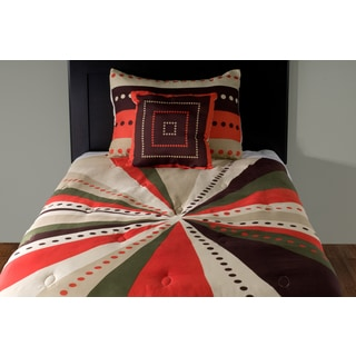 Rizzy Home Brown and Orange Comforter Set