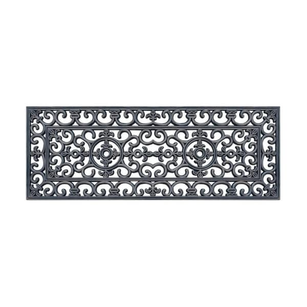 "Rubber Grill Hand Finished Elegant Large Double Doormat 17.7"" X 47"""