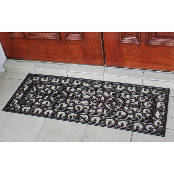 Rubber Grill Beautifully Hand Finished Elegant Large Double Doormat (1'5 x 3'11)