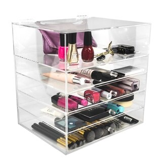 Sorbus 5-Tier Makeup Storage Case - Space-Saving, Stylish Acrylic Case