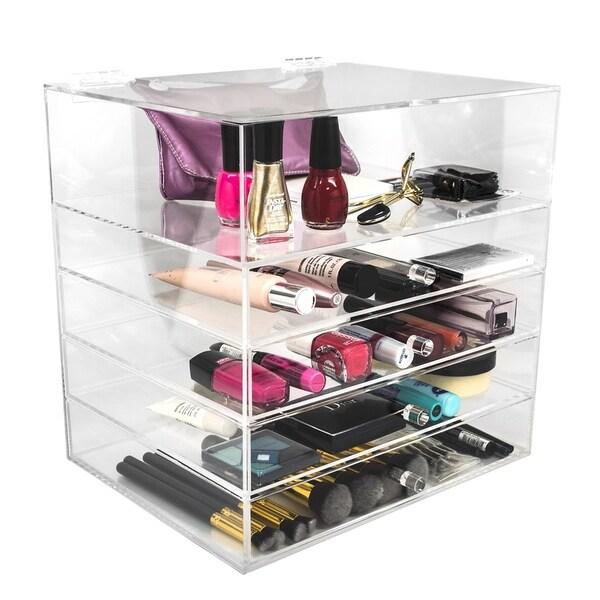 Sorbus 5-Tier Makeup Storage Case - Space-Saving, Stylish Acrylic Case