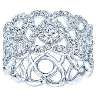 14k White Gold 5/8ct TDW Diamond Fashion Ring