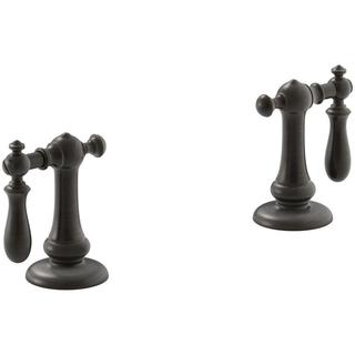 Kohler Artifacts Bathroom Sink Swing Lever Handles in Oil-rubbed Bronze