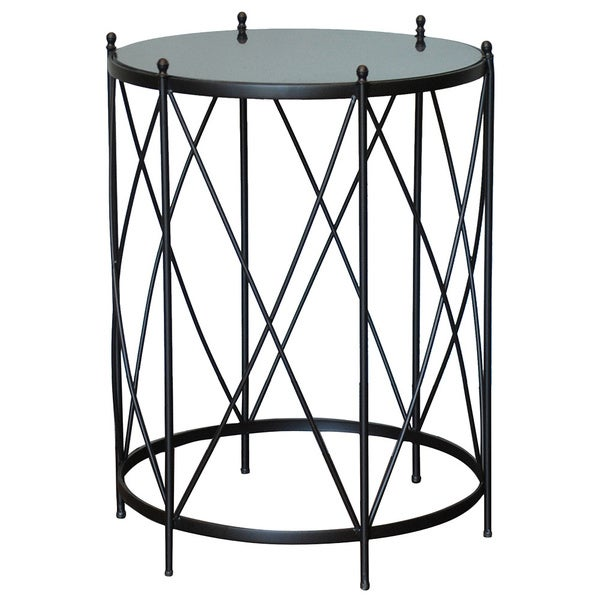 Shop Round Accent Table With Marble Top 29 Quot Tall Brown