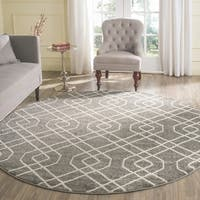 Safavieh Indoor/ Outdoor Amherst Grey/ Ivory Rug - 7' Round