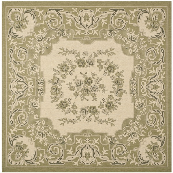 Indoor Outdoor Rugs Square: Safavieh Indoor/ Outdoor Courtyard Cream/ Brown Rug (6'7
