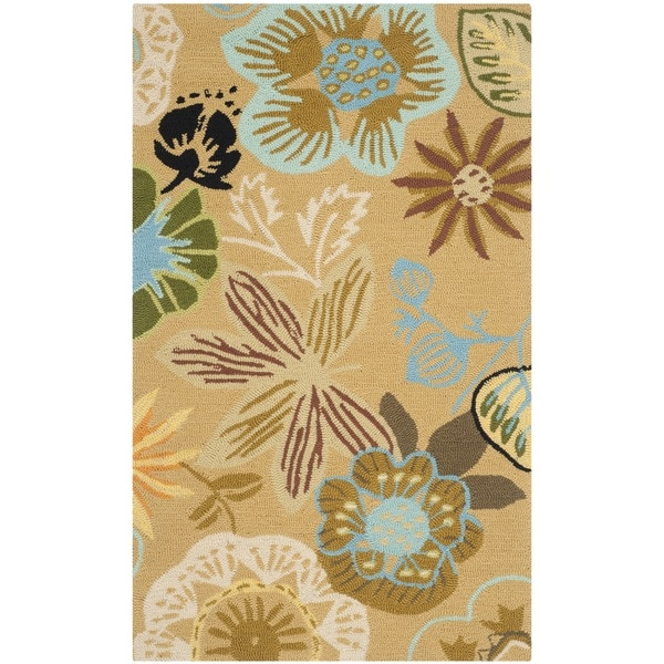 Safavieh Hand-Hooked Four Seasons Taupe/ Multicolored Rug - 3'6 x 5'6