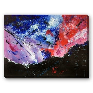 Pol Ledent 'Abstract 6611601' Hand Painted Framed Canvas Art