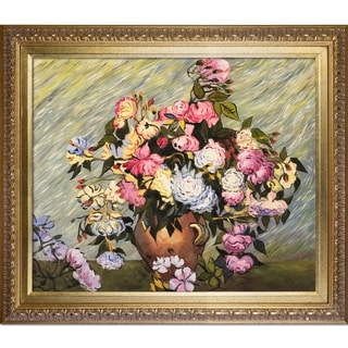Van Gogh 'Still Life Vase with Roses' Hand Painted Oil Reproduction