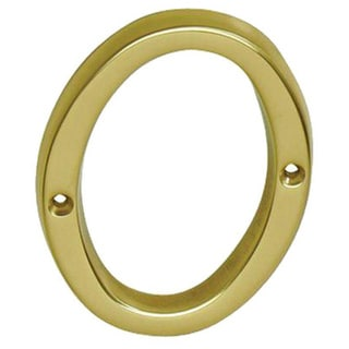 Schlage 4 inch Bright Brass Classic House Number