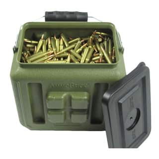 WaterBrick AmmoBrick 1.6 gal. Stackable Ammo Storage Container - Green|https://ak1.ostkcdn.com/images/products/10469987/P17560417.jpg?impolicy=medium