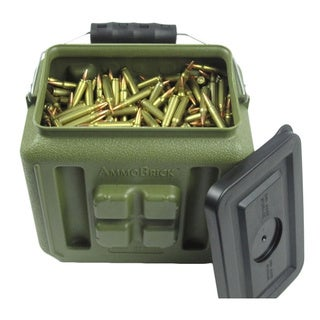 WaterBrick AmmoBrick 1.6 gal. Stackable Ammo Storage Container - Green