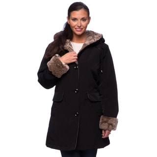 Nuage Women's Faux Fur Trim Coat