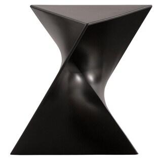 LeisureMod Quinzy Modern Black 17-inch Vanity Stool/ Side Table