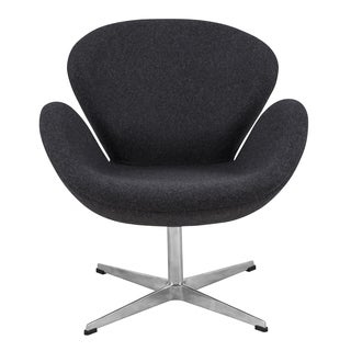 LeisureMod Grey Modern Wool Luray Chair