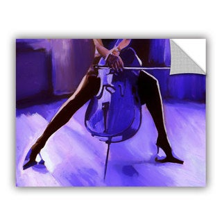 ArtAppealz Vel Verrept 'Cello ' Removable Wall Art