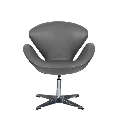 Accent Chairs Grey Leather Shop Online At Overstock