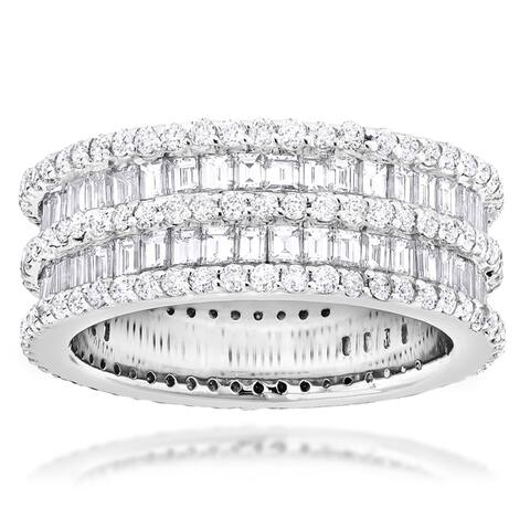 Luxurman Designer 14k Gold 5ct TDW Multi-cut White Diamond Ring