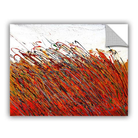 ArtAppealz Vel Verrept 'Winter Wheat' Removable Wall Art