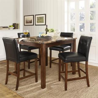 Dorel Living Andover Faux Marble Counter Height 5 pc Dining Set