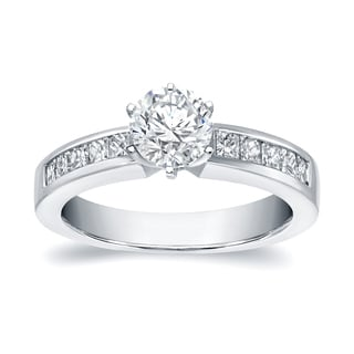 Auriya 14k White Gold 1ct TDW Engagement Ring