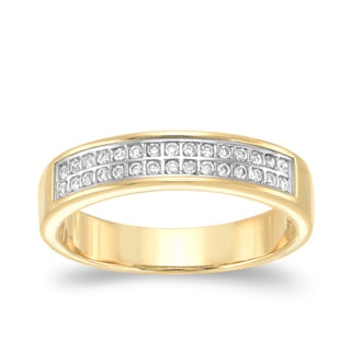 Auriya 14k Yellow Gold 1/6ct TDW Diamond Band (H-I, SI2-SI3)