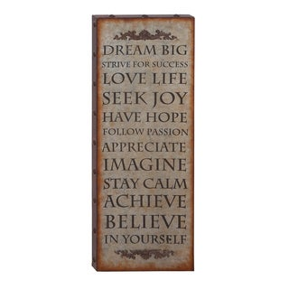 Vintage Quote Wall Plaque