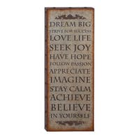 Gracewood Hollow Zepeda Vintage Quote Wall Plaque