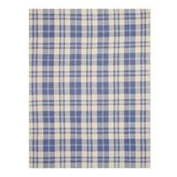 Handmade Wool Blue Transitional Plaid Plaid Rug - 5' x 8'
