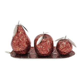 Mosaic Red Fruit Orbs (Set of 4)