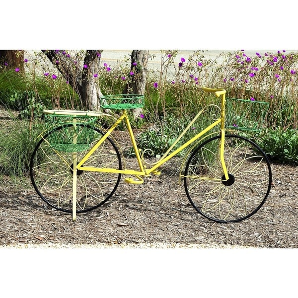 Multi Color Garden Bicycle Planter   Free Shipping Today   Overstock.com    17560640