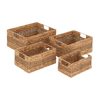 Seagrass Rectangular Baskets (Set of 4)