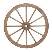 Western Wagon Wheel Wall Sculpture
