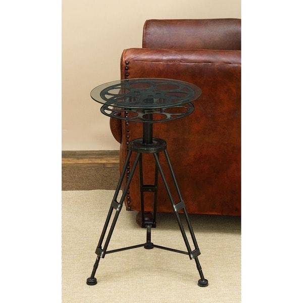 Delightful Movie Reel Accent Table   Free Shipping Today   Overstock.com   17560649