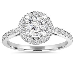 Bliss 14k White Gold 1 ct TDW Diamond Round Wedding Ring