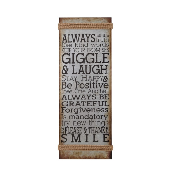 Distressed Inspirational Saying Wall Panel