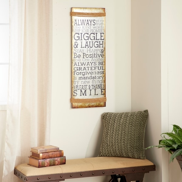 Distressed Inspirational Saying Wall Panel. Opens flyout.