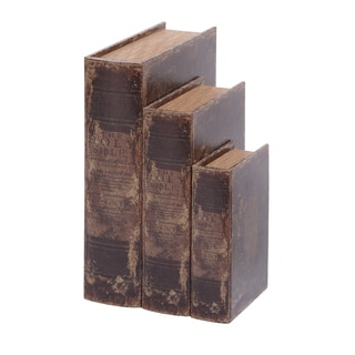 Leather Book Box (Set of 3)