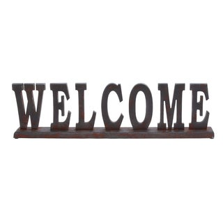 Copper Grove Kitty Wood Welcome Table Sign