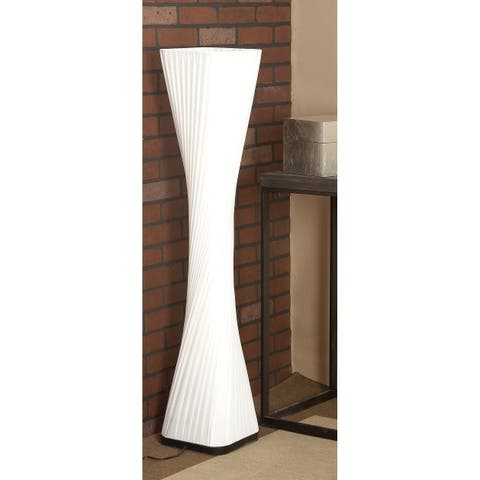 Modern 48 x 10 Inch White Twisted Wooden Floor Lamp by Studio 350