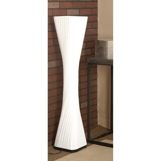 Twisted Pleated Canvas/ Wood Floor Lamp