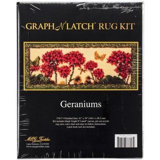 """Latch Hook Kit 41""""X19""""-Geranium"""