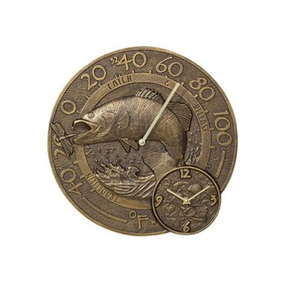 Whitehall Bass Thermometer Clock - French Bronze