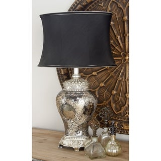 Silver Mosaic Glass Jar Table Lamp