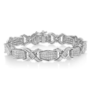14k White Gold 6ct TDW Diamond Tennis Bracelet (H-I, SI1-SI2)
