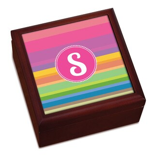 Rainbow Stripes Stripes Personalized Keepsake Box
