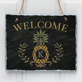 Pineapple Initial Personalized Wall Slate